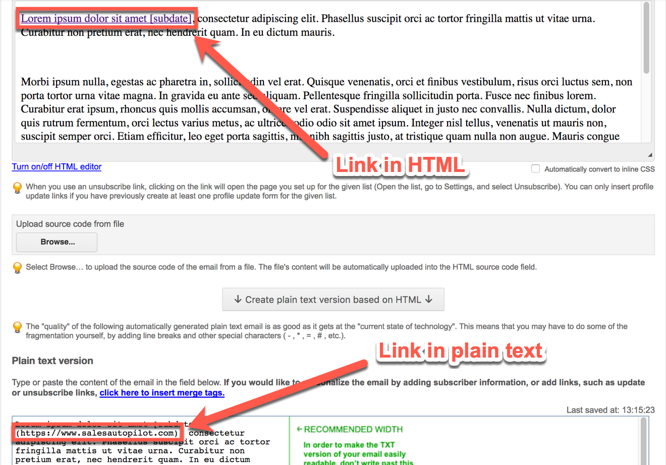 how to create an email button in html