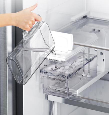 Hűtőszekrény beköti a vizet