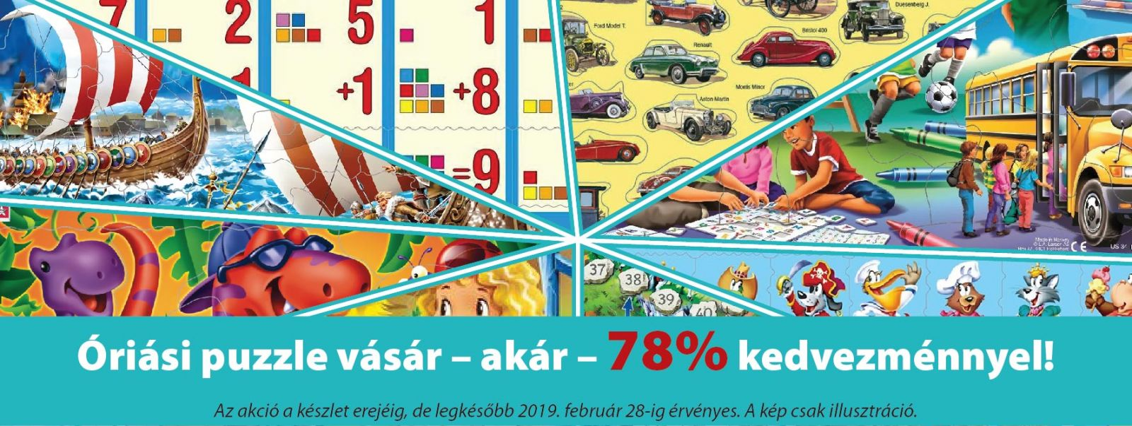 Puzzle és családi-gyerekjáték készletkisöprő akció