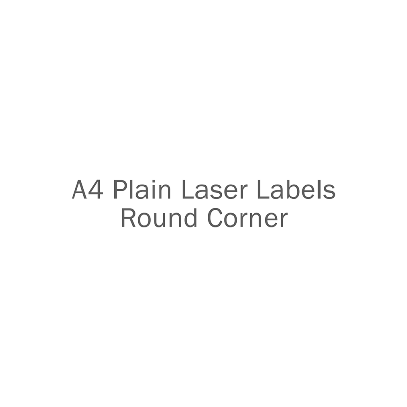 A4 Plain Laser Labels Round Corner