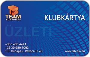 TZteam klubkártya (üzleti)