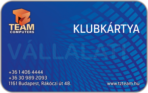TZteam klubkártya (vállalati)