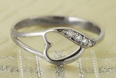 Szívvirág gyűrű brillel